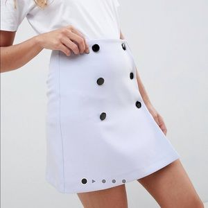 asos double breasted mini skirt